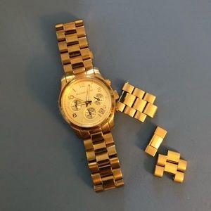 Michael Kors ladies gold watch w extra links